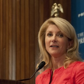 Texas Senator Wendy Davis filed a brief with four other elected officials. She speaks of her two abortions due to a medical complication and a life threatening brain malformation in the fetus.