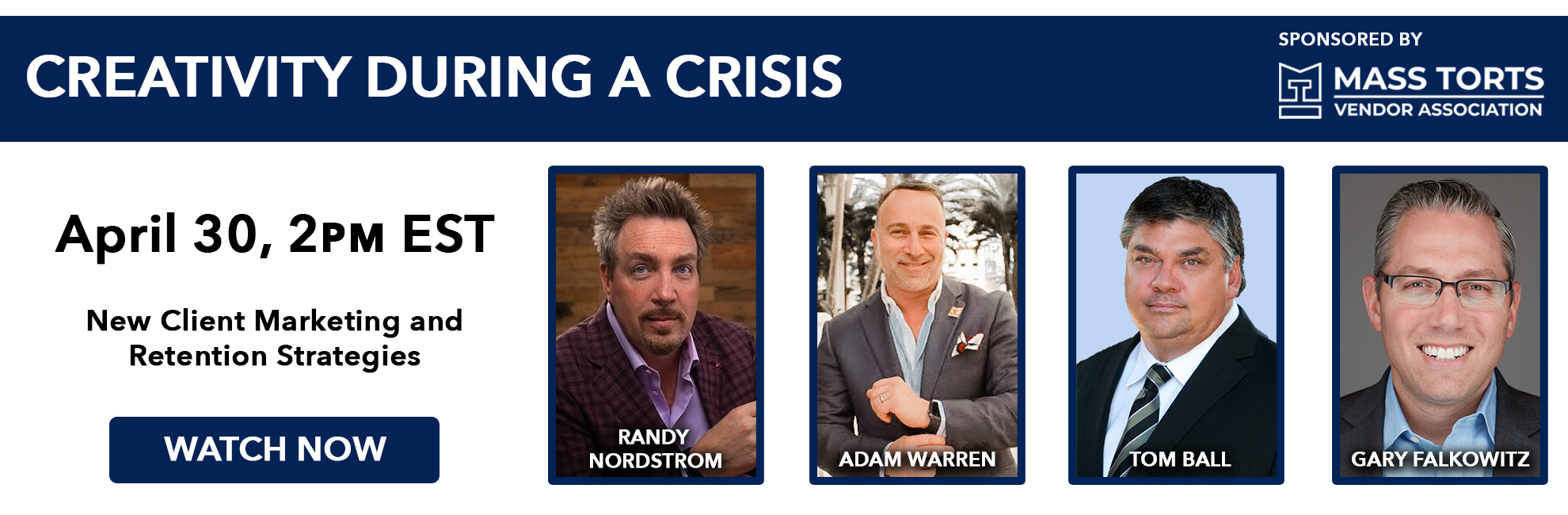 April 30th, 2020 - Creativity During a Crisis Webinar